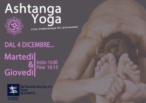 Ashtanga Yoga dal 4 dicembre